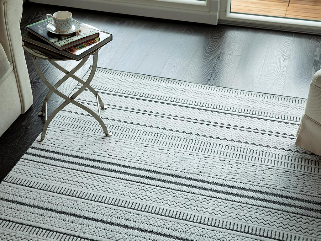Randa Cotton Carpet 120x180 Cm Gray