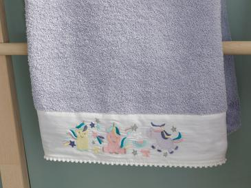 Mini Unicorn Baby Bath Towel 70x120 Cm Lilac