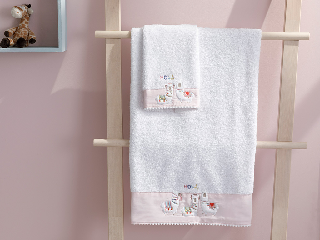 Cottony Baby Bath Towel 70x120 Cm White