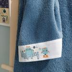 Happy Robots Cotton Baby Hand Towel 30x40 Cm Indigo