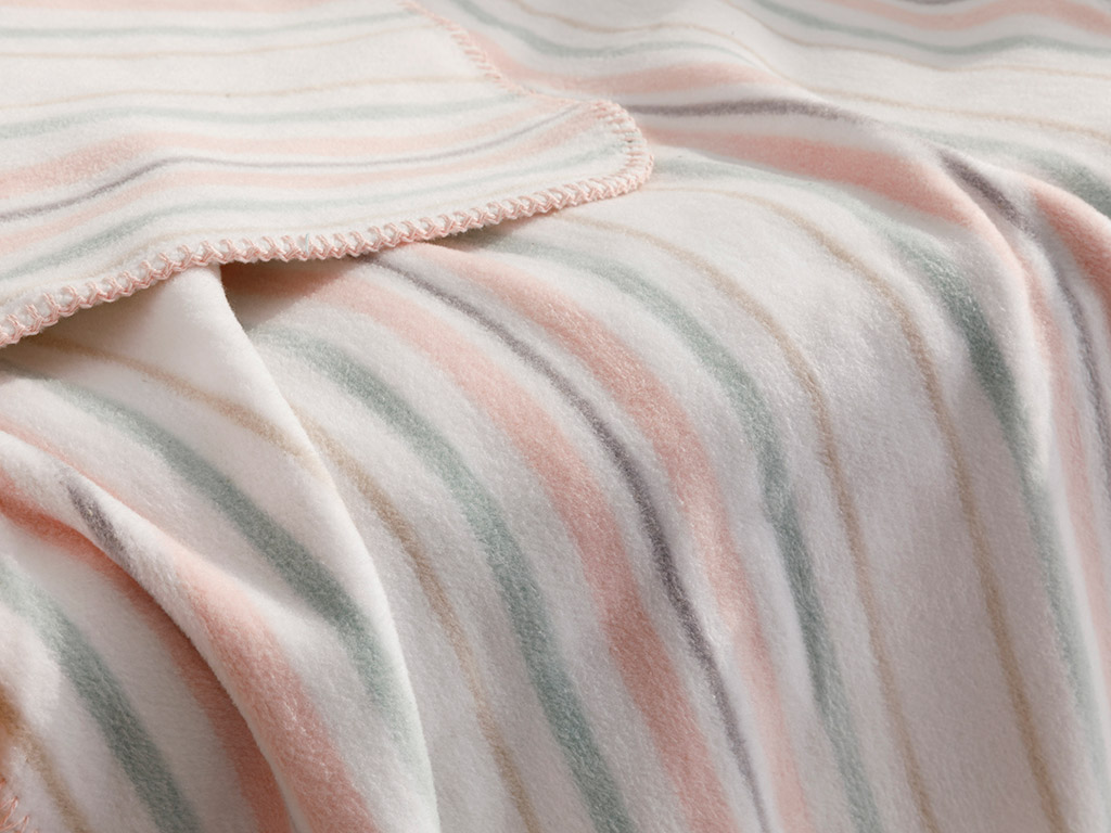 Softy Stripe Cotton Baby Blanket 100x120 Cm Pink