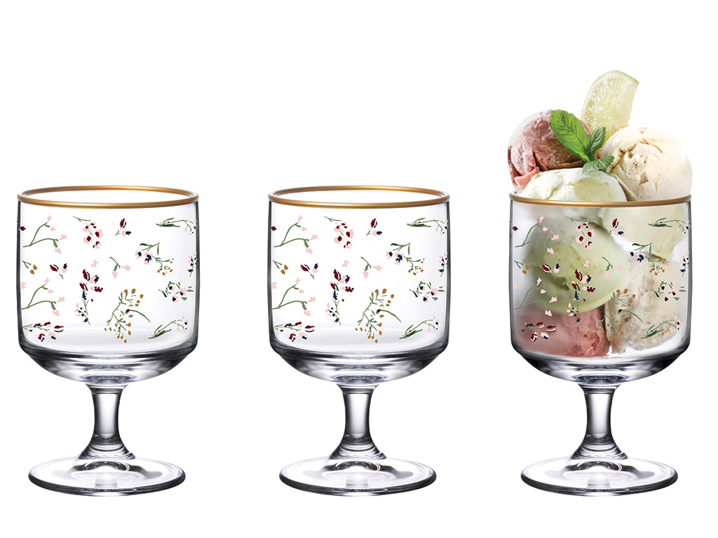 Simply Glass Cup 3 Piece 300 Ml Pink-Green