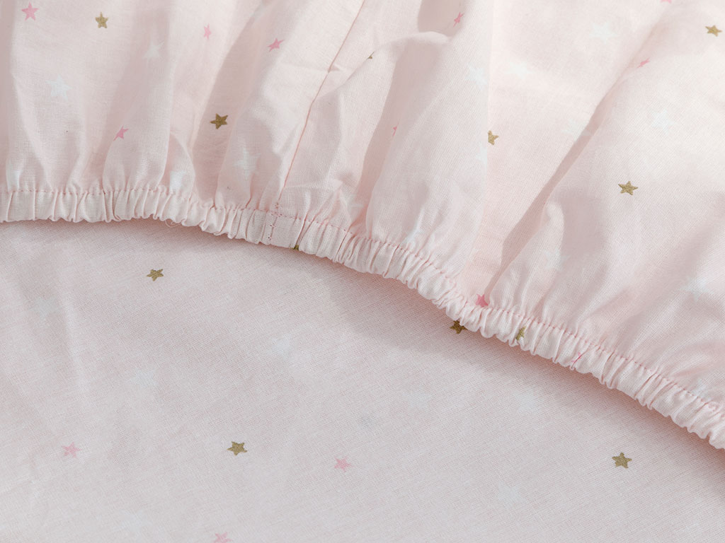 Mini Astro Cotton Baby Fitted Bed Sheet 70x140 Cm Pink