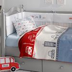Mini Cars Cotton Baby Blanket 100x120 Cm Red