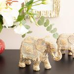 Elephant's Trunk Polyresin Decorative Object 20x8,5x14,5 Cm Coffee