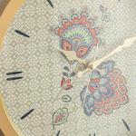 Paisley Flower Plastic Wall Clock 30 Cm Gold