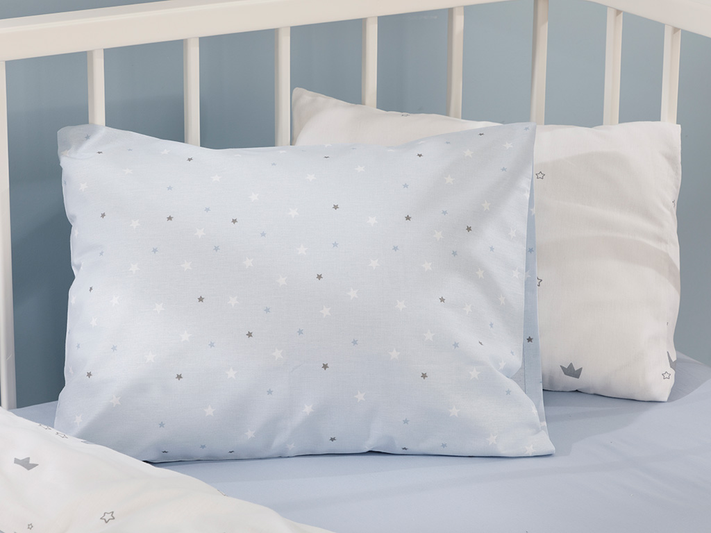 Mini Astro Cotton Baby Pillowcase 35x45 Cm Blue
