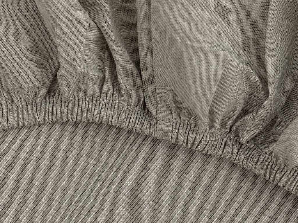 Plain Cotton Fitted Bed Sheet King Size 140x200 Cm Grey