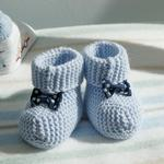 Soft Baby Socks 6-12 Month Light Blue