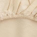 Plain 1 Cotton King Size Fitted Bed Sheet 180x200 Cm Beige