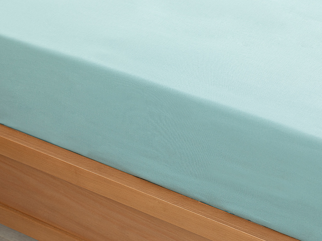 Plain Fitted Bed Sheet King Size 180x200 Cm Seledon