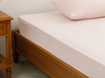 Plain 2 Cotton Single Size Fitted Bed Sheet 100x200 Cm Pink
