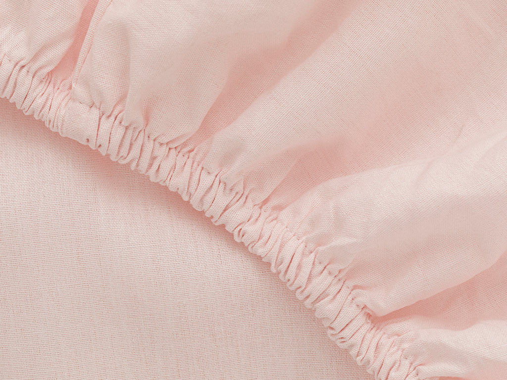 Plain 2 Cotton Fitted Bed Sheet King Size 200x200 Cm Pink