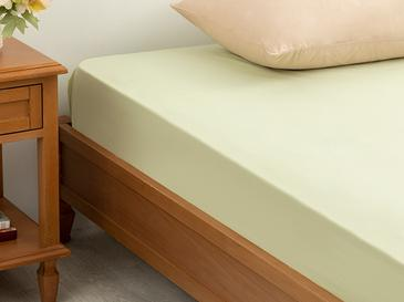 Plain 5 Cotton Fitted Bed Sheet 180x200 Cm Green