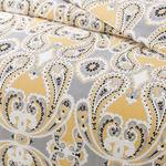 Fancy Shawl Duvet Cover Full Set Single Size 160x220 Cm Yellow