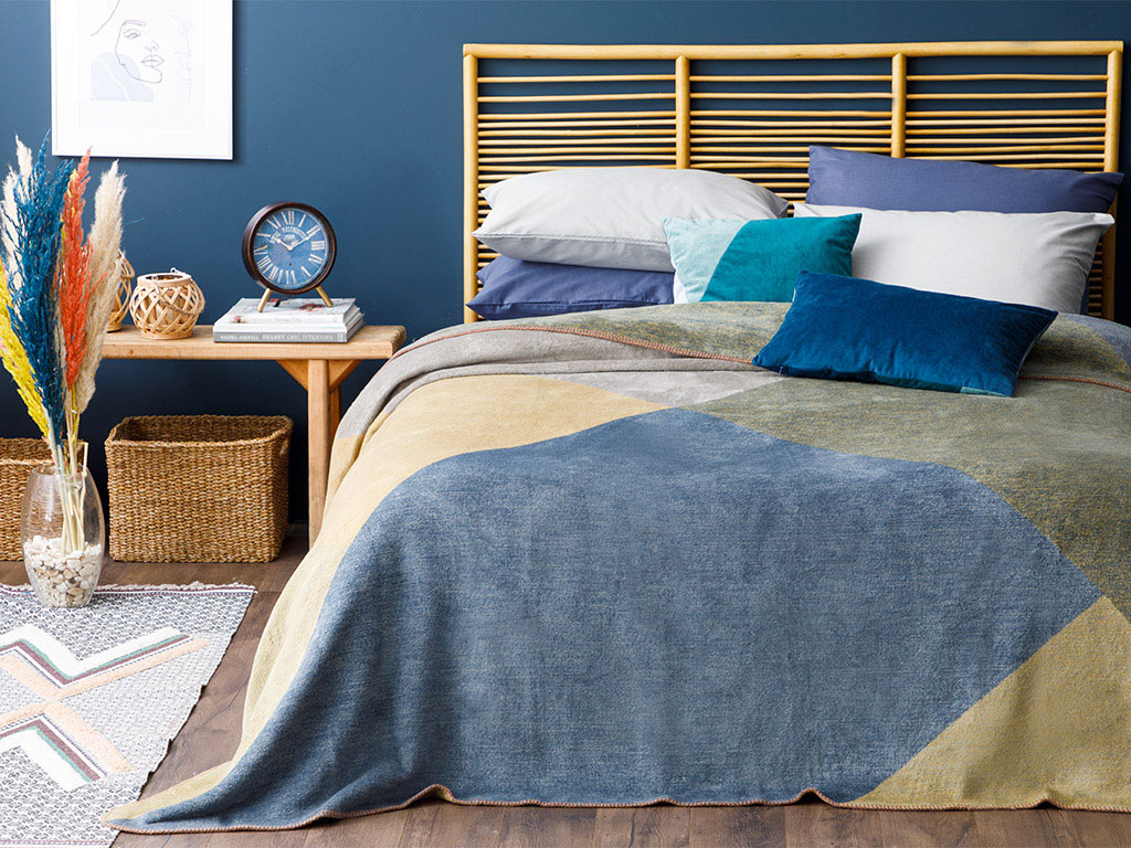 Cottony For One Person Blanket 150x200 Cm Navy Blue