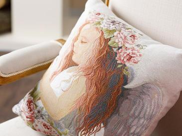 Angel Gobelin Cushion Cover 45x45 Cm Ecru
