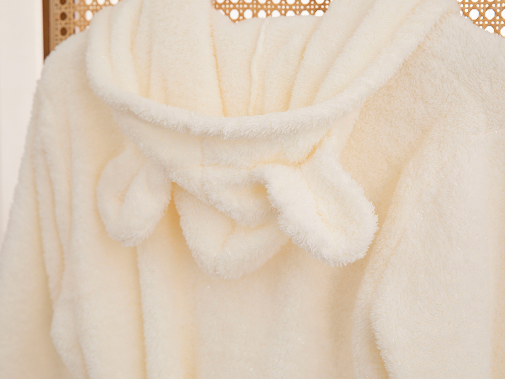 Peafowl Polyestere Dressıng Gown S-М Cream