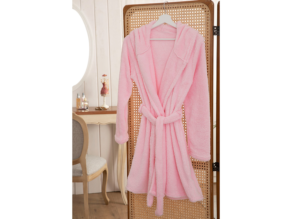 Peafowl Polyestere Dressıng Gown S-m Pink