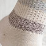 Soft Stripe Cotton Socks Mix White