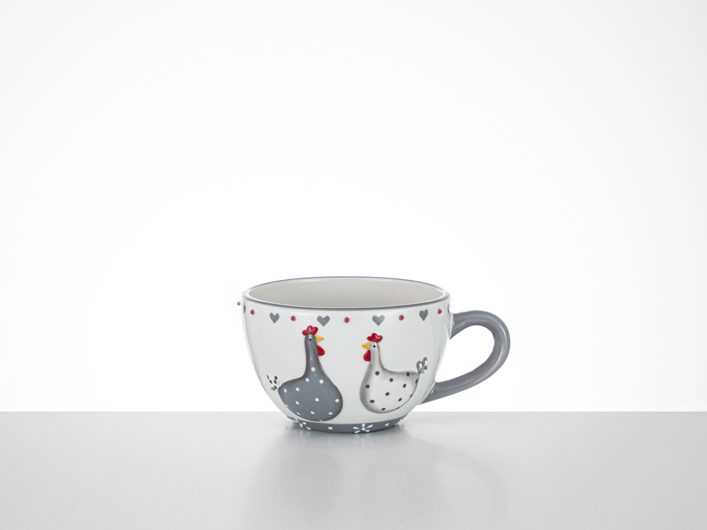 East Ceramic Cup 16,5x13x8,3 Cm White-Gray