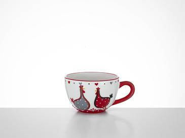 Chick Heart Ceramic Cup 16,5x13x8,3 Cm Red-White