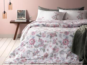 Artistic Jacobean Cotton Duvet Cover Set Single Size 160x220 Cm Damson