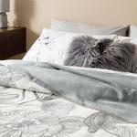 Cotton Blanket Single Size 150x200 Cm Gray