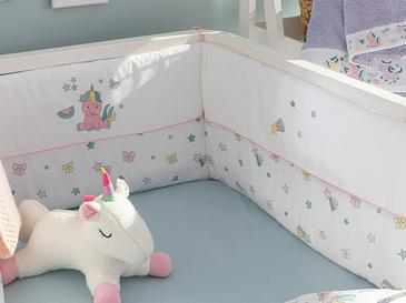 Mini Unicorn Baby Bed Bumper 40x200 Cm Pink