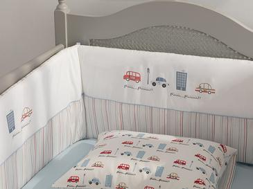 Mini Cars Baby Bed Bumper 40x200 Cm Blue