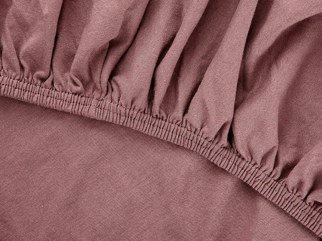 Plain Fitted Bed Sheet Set King Size 180x200 Cm Purple