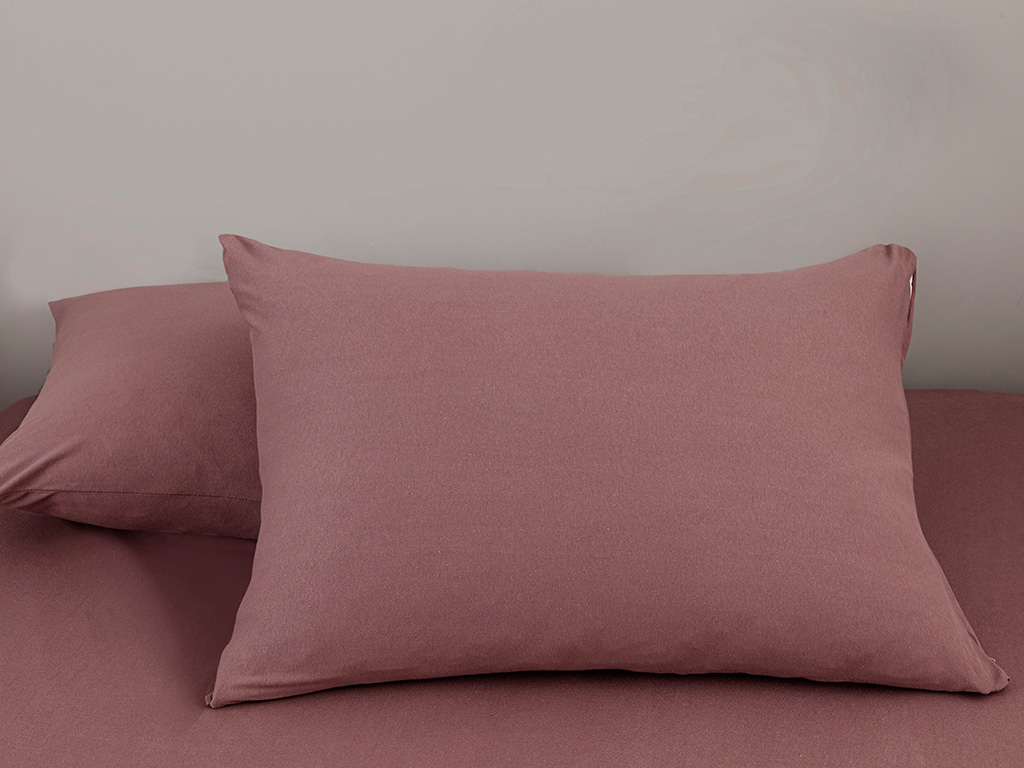 Plain Fitted Bed Sheet Set Double Size 160x200 Cm Purple