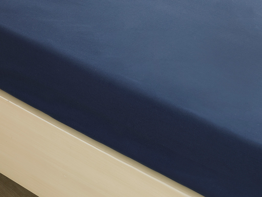 Plain Cotton Bed Sheet Single Size 160x240 Cm Midnight Blue
