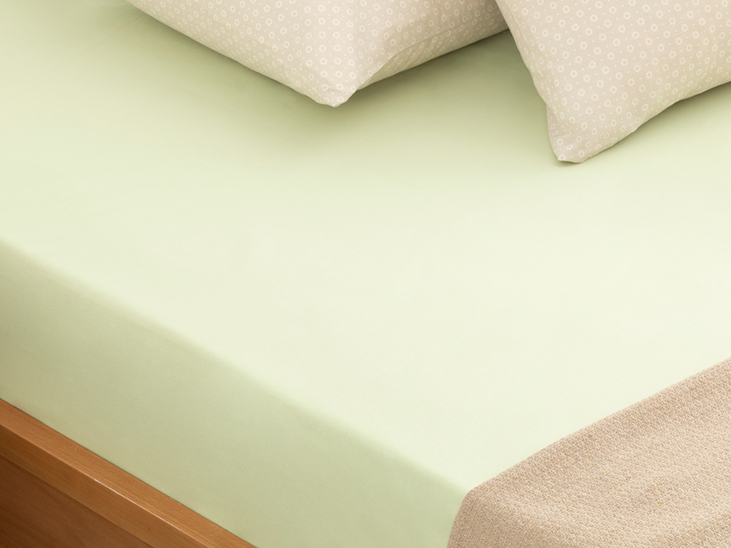 Plain Cotton Bed Sheet 260x280 Cm Green