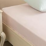 Plain Cotton Fitted Bed Sheet Single Size 100x200 Cm