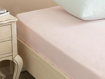 Plain Cotton Fitted Bed Sheet Super King 160x200 Cm Light Pink