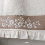 Small Flowers Bordered Face Towel 50x80 Cm