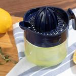Hera Glass Lemon Squeezer 300 Ml Navy Blue