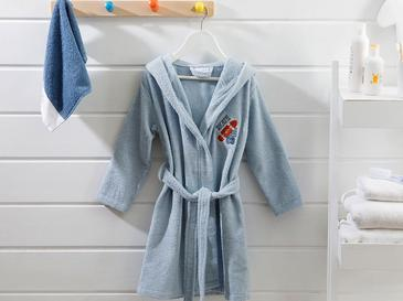 Skateboard Cotton Kids Bathrobe 4-5 Age Blue