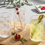 Alder Juice Glass 3 Piece 365 Ml Gold