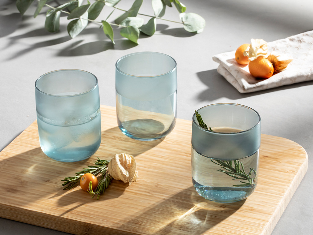 Bande Glass 3 Set Juıce Glass 270 Ml. Seledon