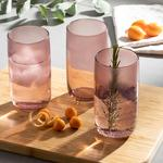 Bande Juice Glass 3 Piece 365 Ml Pink