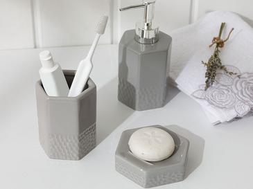 Vanity Ceramic Bathroom Set 7x7x10 Cm Gray
