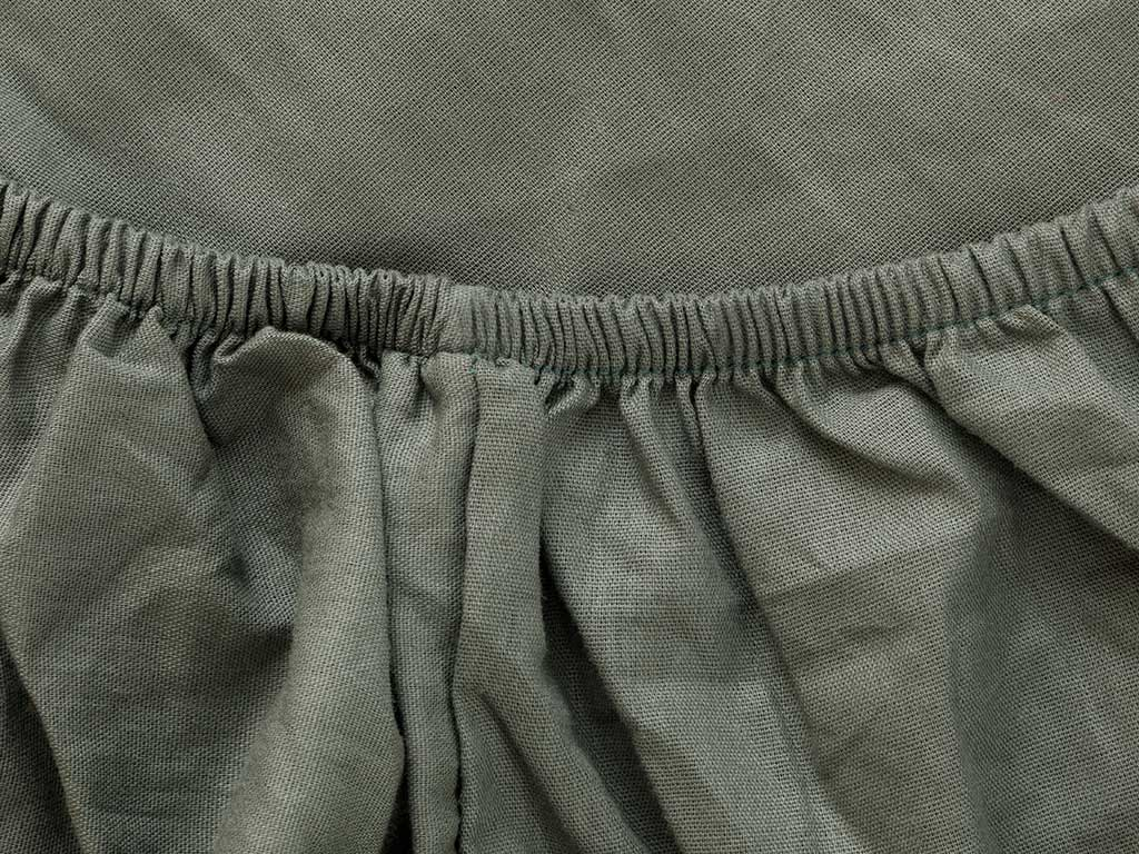 Plain Cotton Fitted Bed Sheet Set Single Size 100x200 Cm Green