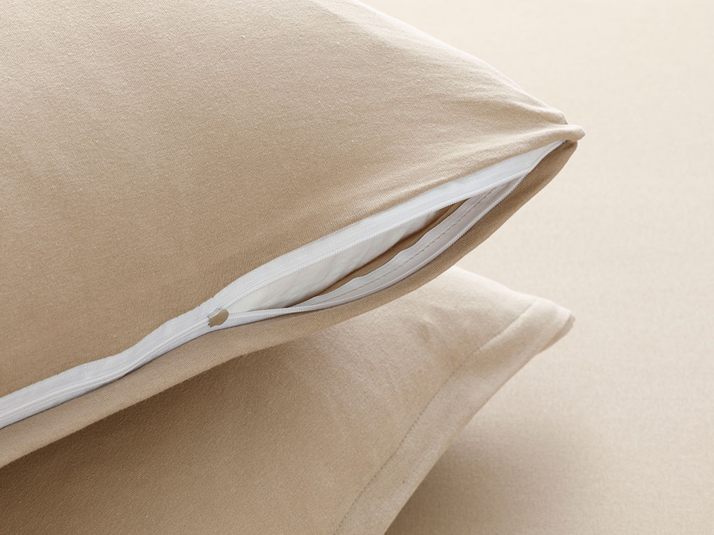 Plain Cotton Fitted Bed Sheet Set Double Size 160x200 Cm