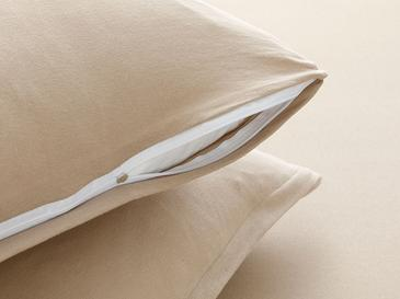 Plain Cotton Fitted Bed Sheet Set Single Size 100x200 Cm Coffee