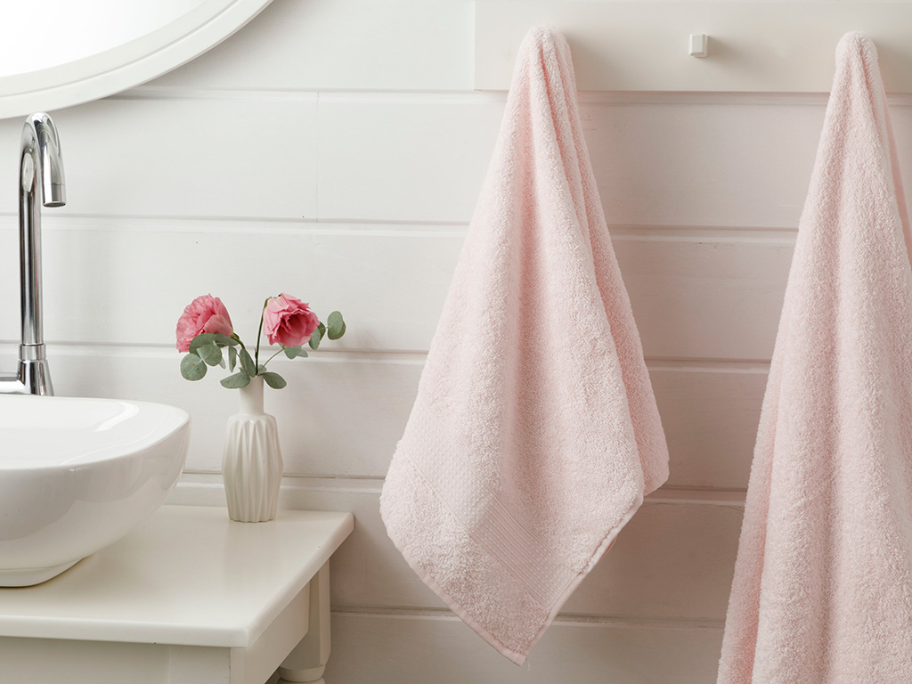 Pure Basic Face Towel 50x90 Cm Pink