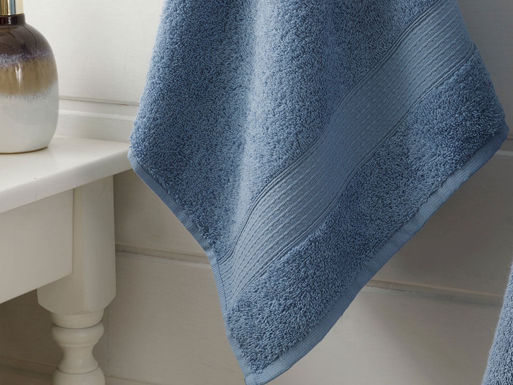 Pure Basic Face Towel 50x90 Cm Dark Blue