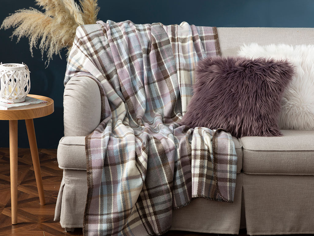 Grandford Scotch TV Blanket 130x170 Cm Lilac