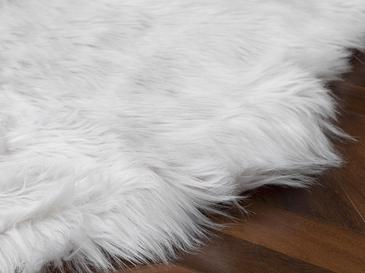 Jade Acrylic Fake Fur 120x180 Cm White
